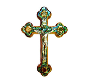 NEW - Cross Olive wood with Mother of Pearl 22 cm  - Free shipping