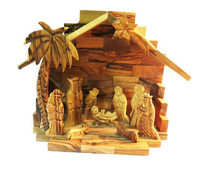 Nativity Scene | olive wood - Free shipping