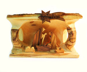Nativity Scene  - 3 | olive wood - Free shipping