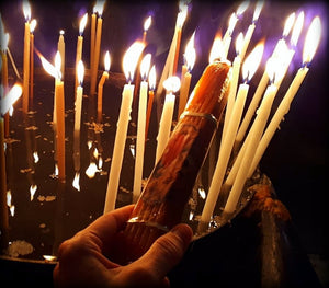 33 HOLY CANDLES | lit from the Holy Fire | Αγία Φωτιά του Ιησού