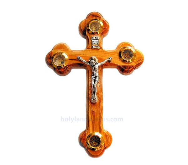 Olive wood Crucifix | 12 cm / 4.8 inches