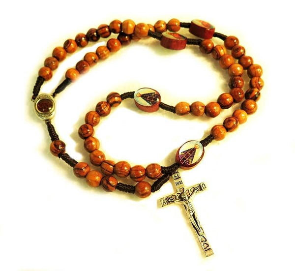 Round beads Rosary- 4 Icons & soil