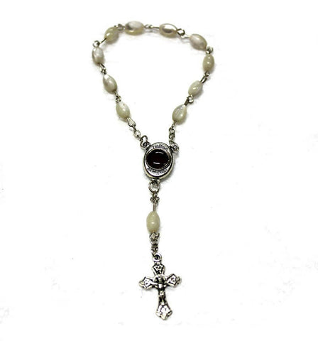 Rice Pearl Rosary bracelet | Free shipping
