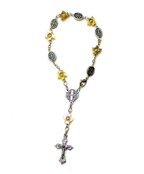 Single decade rosary bracelet