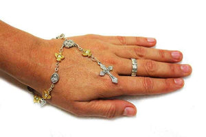 Single decade rosary bracelet - Free shipping