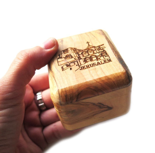 Rosary box | Olive wood