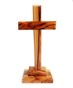 "Cross on base | Olive wood |   14 c""m 5.5 inches - Free shipping"