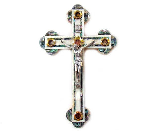 Mother of Pearl Crucifix | 28 cm 11 inches