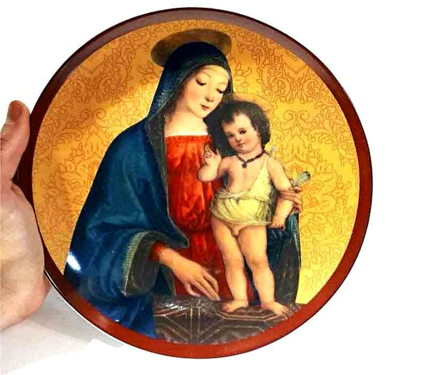 Wall Plate Mother Mary and Baby Jesus
