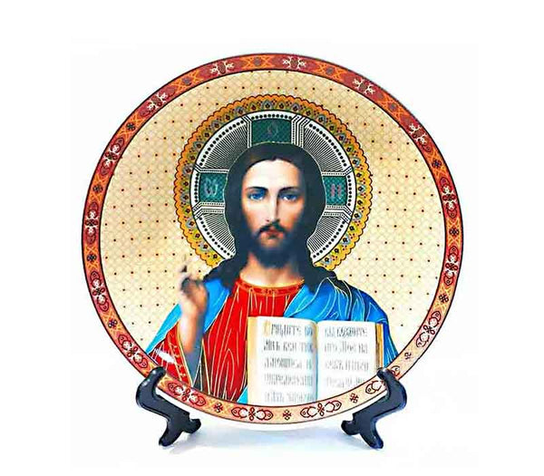 A plate with Jesus' Icon