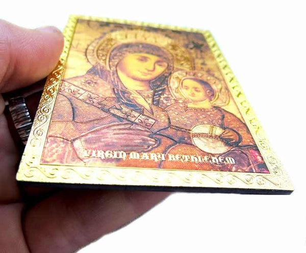 Icon magnet of Mary of Bethlehem