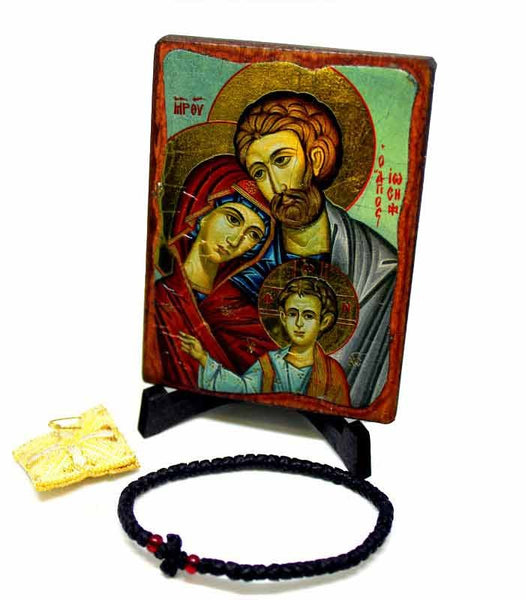 Holy Family Icon & bracelet made by sisters