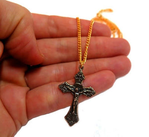 Crucifix pendant 24k Gold plated