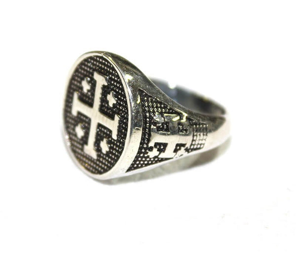 Jerusalem-Cross silver ring