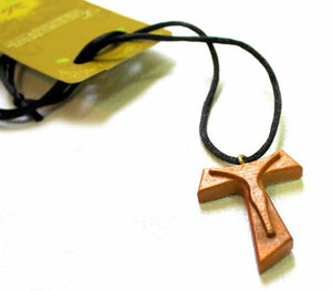 Tau Cross pendant  - 2 - Olive wood