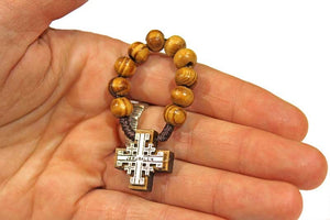 Rosary ring - JERUSALEM CROSS