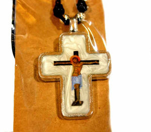 Mother of pearl pendant Crucifix - Free shipping