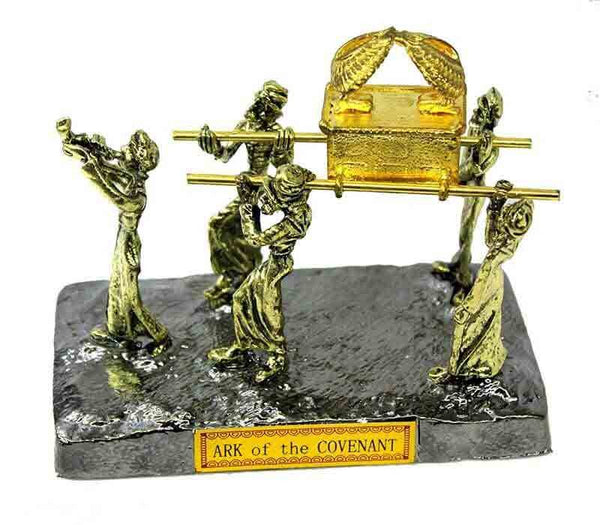 Ark of Covenant statue - silver & gold plated