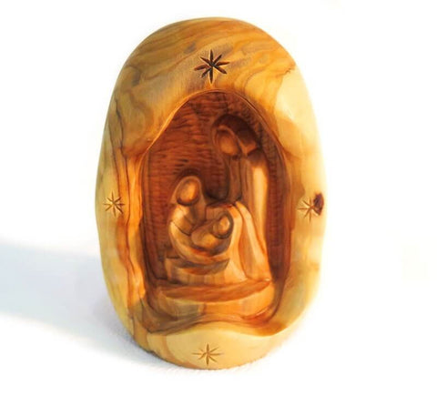 Holy Family-Natural olive wood branch