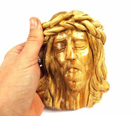 Jesus Face |olive wood