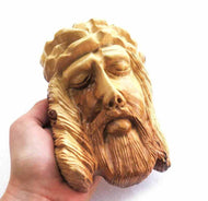 Face of Christ- size 17*11 cm - olive wood