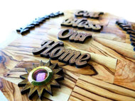 God Bless Our Home | Olive wood