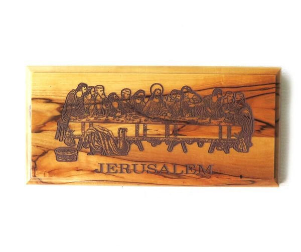 Last Supper Plaque-Olive wood