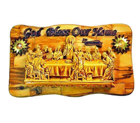 Last Supper Olive wood Plaque