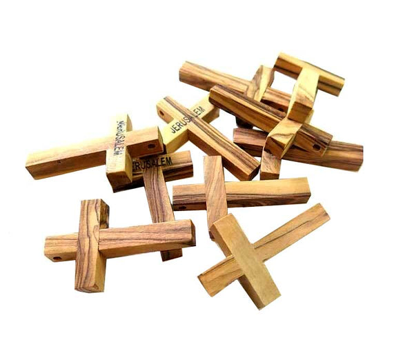 10 Crosses-olive wood