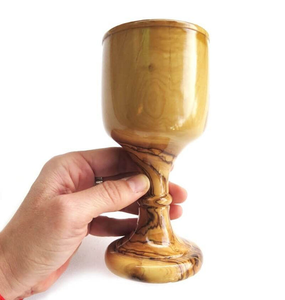 Chalice Olive wood | 6 inches