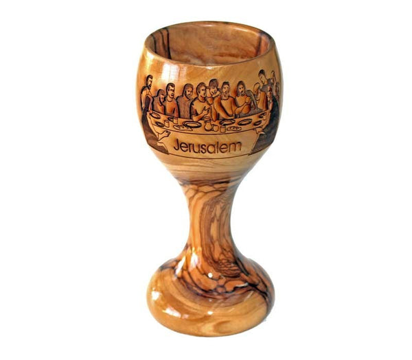 Chalice | Last Supper | Olive wood