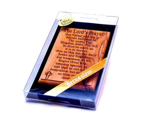 The Lord's prayer on olive wood plaque
