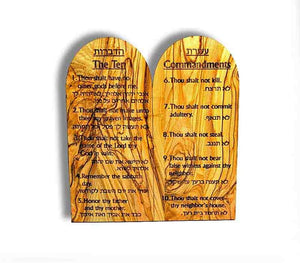 10 commandments olive wood