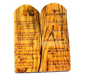 olive wood 10 commandments