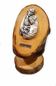 Holy Family | olive wood base