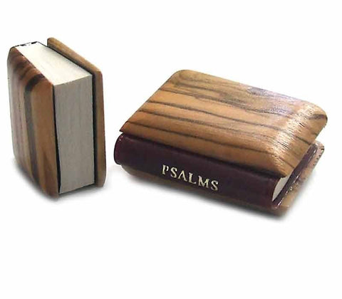 Book of Psalms Olive wood cover