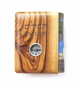 Pocket size Psalms - Olive wood Cover+Compass