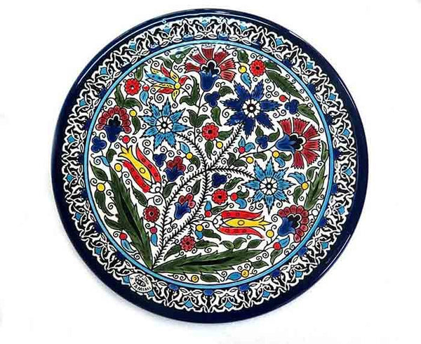 Wall Plate - Armenian ceramic  - flowers