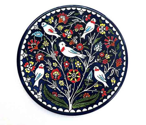 Lovely Ceramic Birds and flowers plate