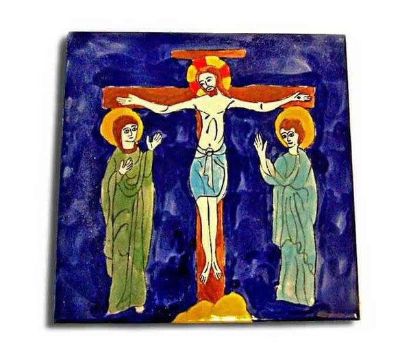 The Crucifixion | Armenian ceramic tile