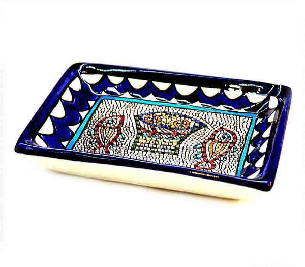 Rectangular Bowl Armenian Ceramic bowl made in  Jerusalem