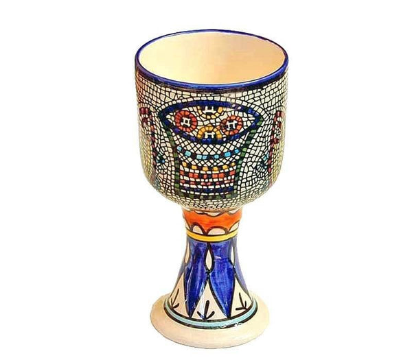 Loaves and Fish goblet | 7 inches | Free shipping