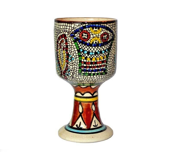 Loaves and Fish symbol Goblet | Ceramic