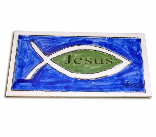 Jesus Fish Ceramic tile