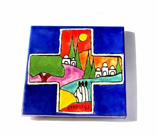 Emmaus Cross | Armenian Ceramic tile