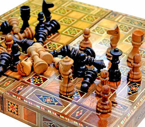 Chess Checkers and Backgammon Game Set