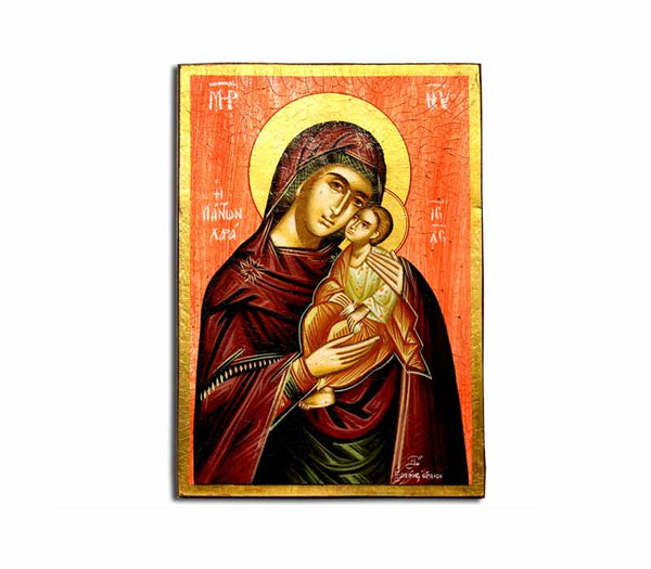 Mother Mary & Baby Jesus Icon | free shipping