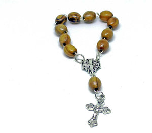one decade rosary & Jerusalem cross
