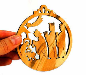 Christmas ornament - olive wood