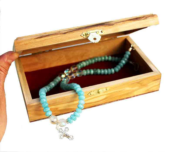 Jewelry Box | olive wood from Bethlehem - Free shipping